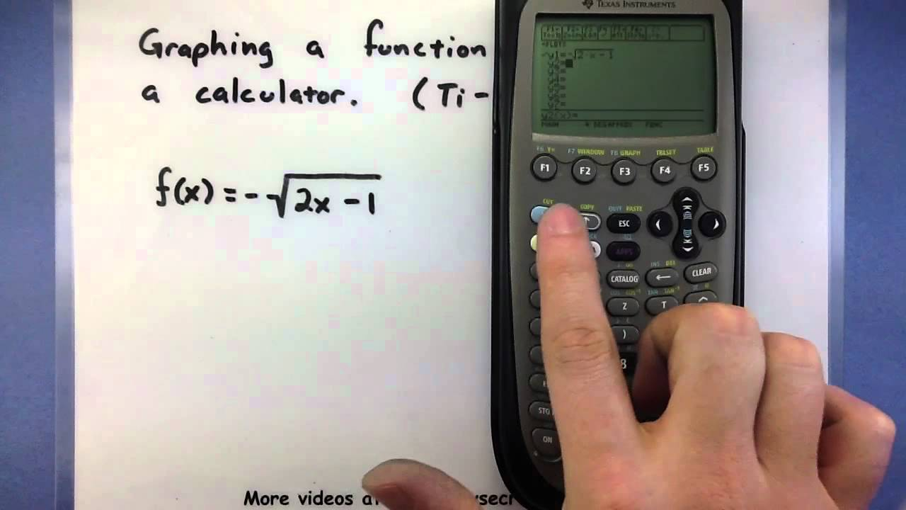 Pre-Calculus - Using a calculator to graph a function (Ti-89) - YouTube