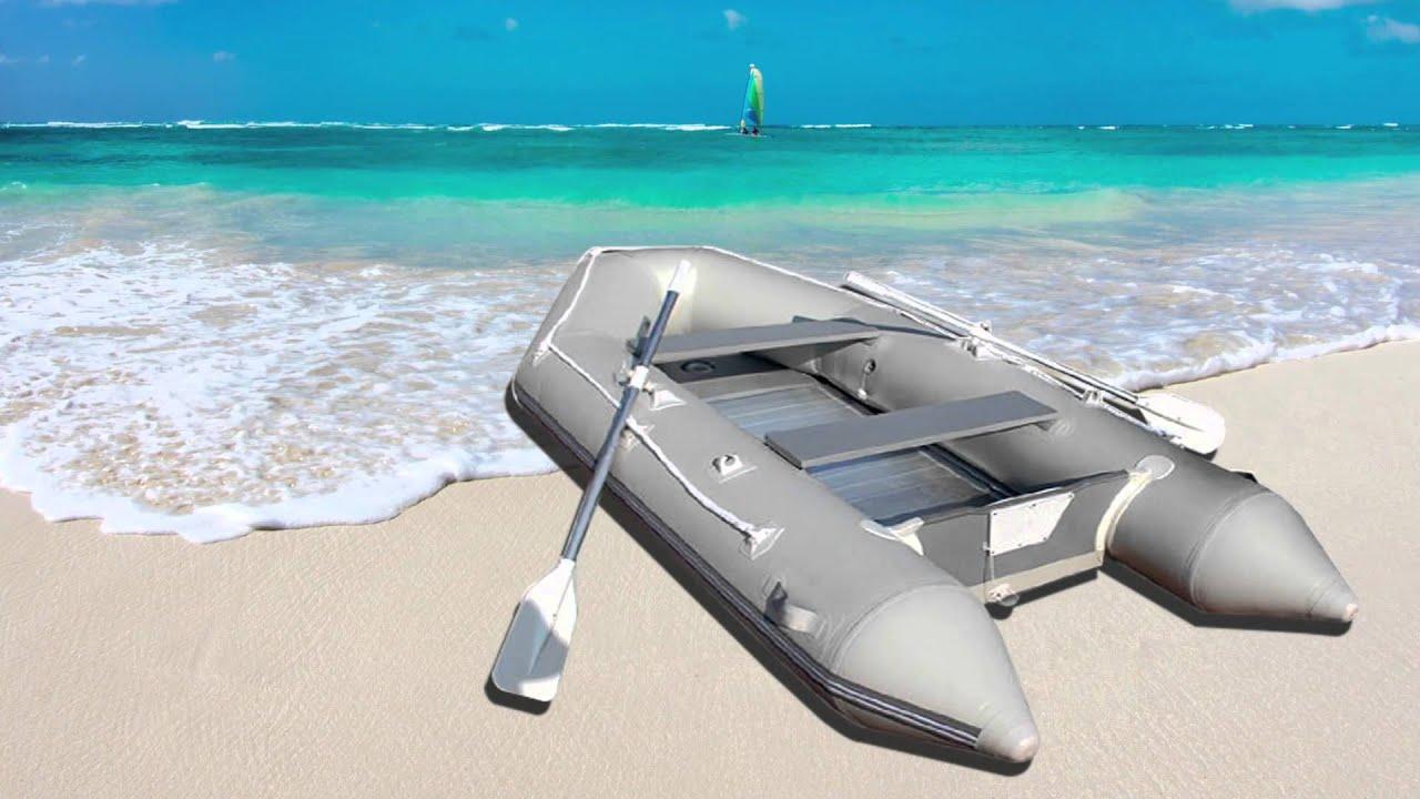 JAGO Schlauchboot mit Aluminiumboden für 4 Personen ...