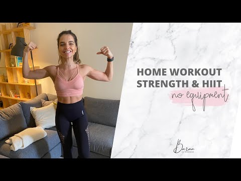Strength & Hiit Home Workout, No Equipment