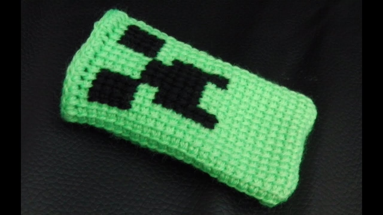 Minecraft Handy Socke Häkelanleitung Youtube