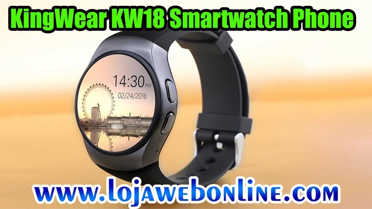 7a21dc46459 Review KingWear KW18 Smartwatch Phone - Loja Web Online