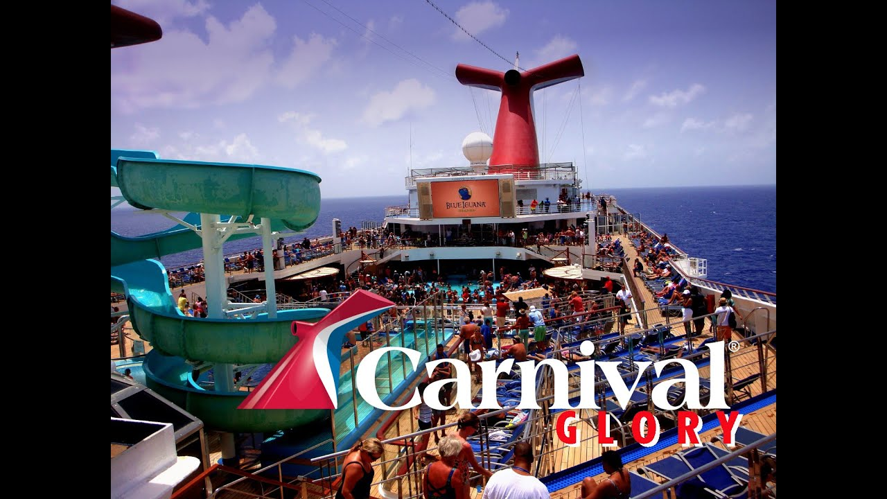 Carnival Cruise Glory. Sailing Party. - YouTube