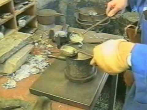 Pewter casting tutorial with A E Williams,some of the finest pewterware in the world 1779