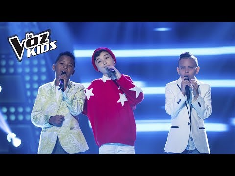 Chevy, Carlos Mario y Santiago cantan Desesperado | La Voz Kids Colombia 2018