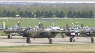 Eleven B-25 Mitchells Land For Doolittle Raid 75th Anniversary - Dayton, OH