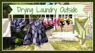 Why We Dry Clothes & Cloth Diapers Outside