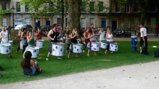 Drummers in Queen Square, Bristol