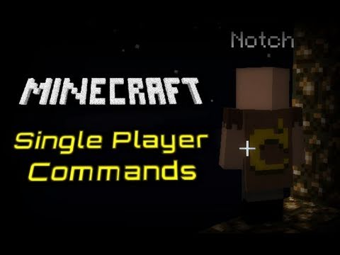Minecraft: Single Player Commands Tutorial! - YouTube