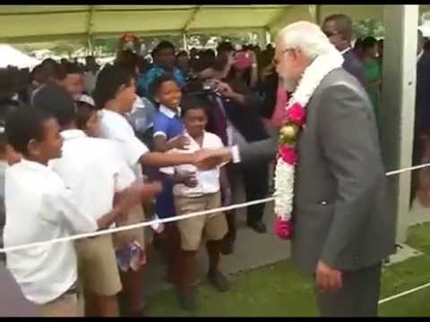 PM Modi interacts with people in Fiji
