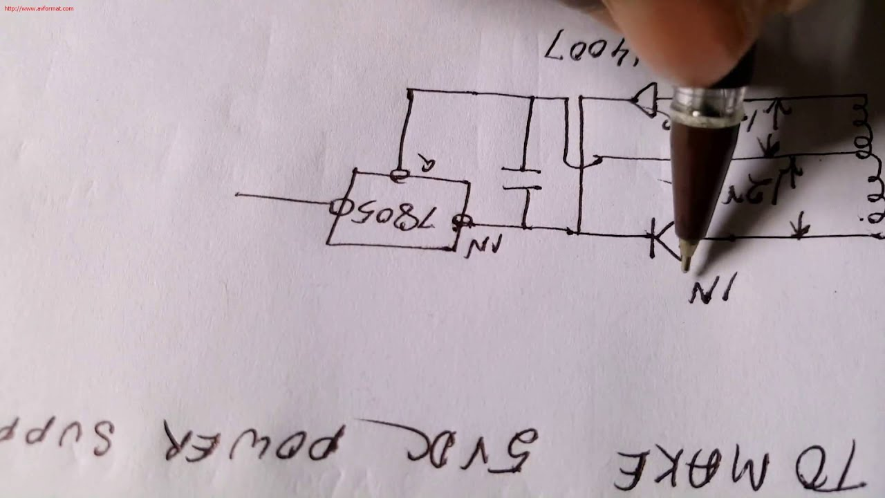 how to make 5vdc power supply by using center tap transformer [ 1920 x 1080 Pixel ]