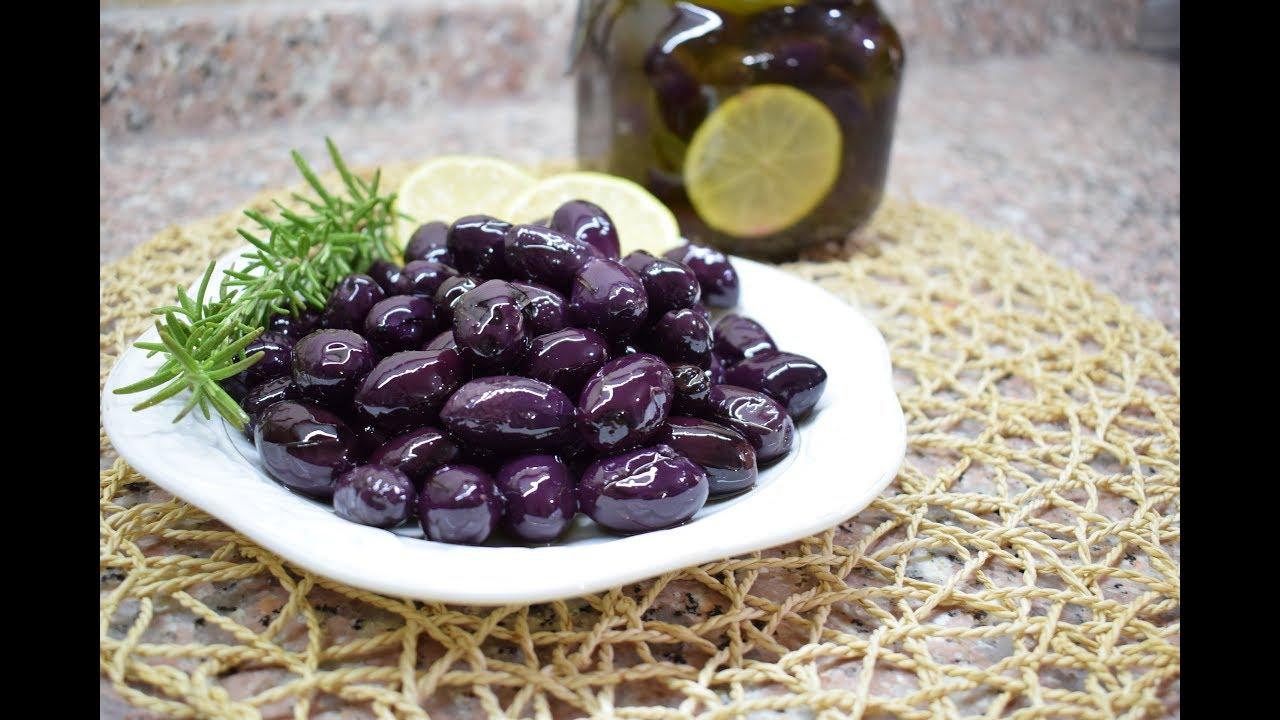 تجهيز الزيتون الأسود اطيب من الجاهز باكثر من طريقة Black Olives