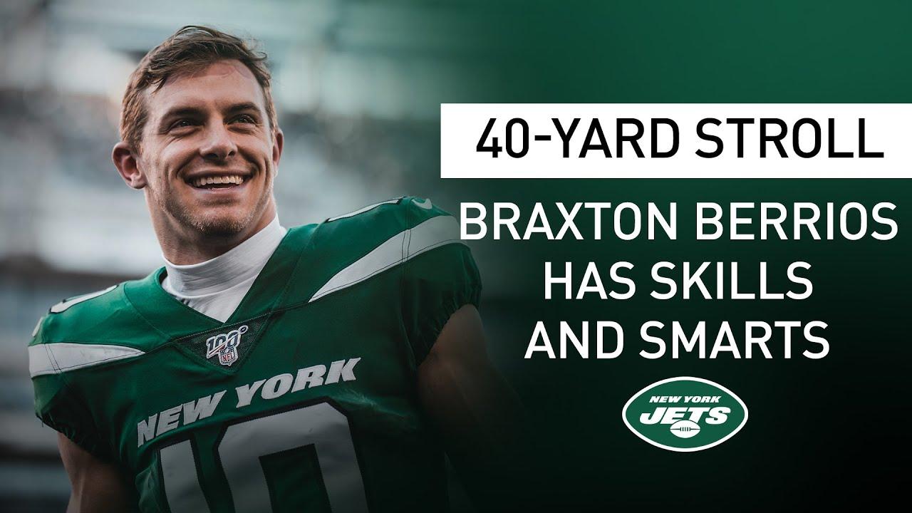 40-Yard Stroll: Braxton Berrios Was A Valedictorian At The U? | New York Jets | NFL