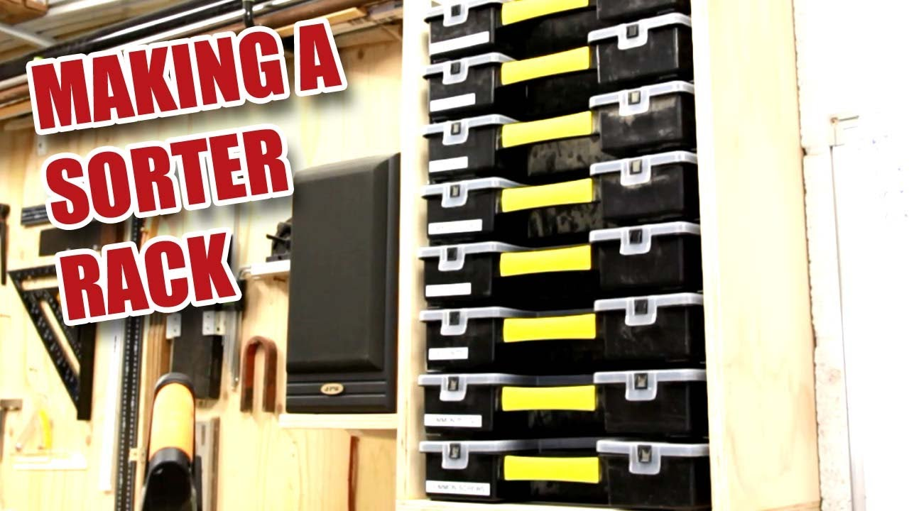 making a rack for small parts storage with stanley sortmasters