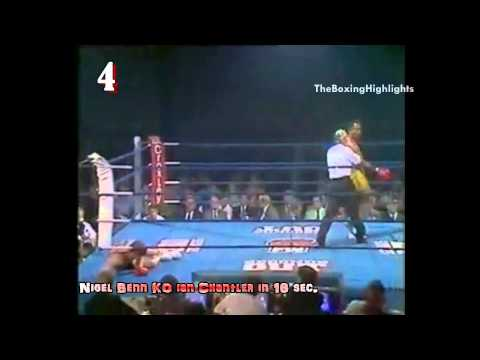 "Nigel Benn - ""The Dark Destroyer"" 1st round 1 punch KO! Fastest Boxing Knockout"