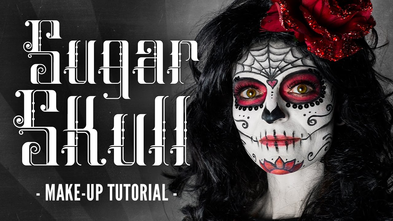 sugar skull make up halloween schminkanleitung youtube. Black Bedroom Furniture Sets. Home Design Ideas