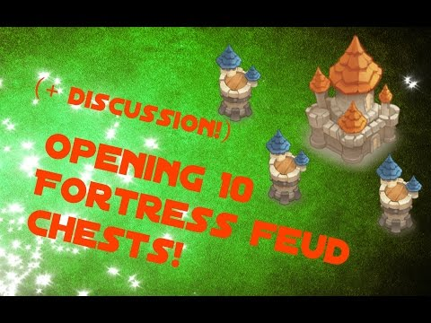 Castle Clash; Opening 10 Fortress Chests & General Fortress Discussion!