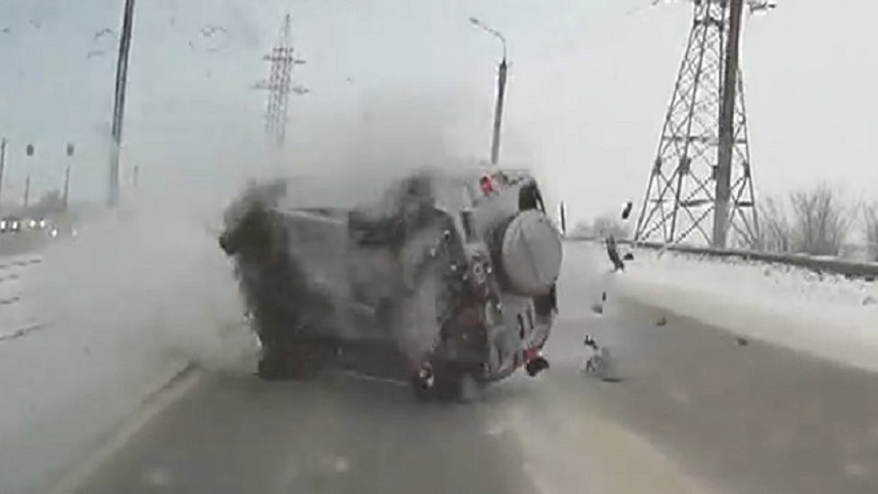 Russian Car Crash Compilation December Russian Car Crashes