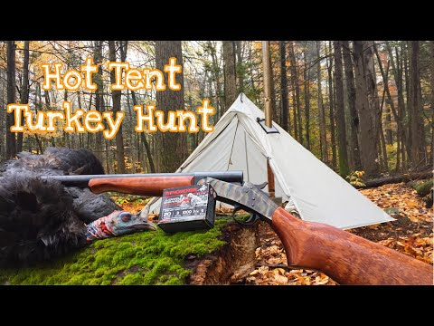 Run & Gun Fall Turkey Hunting With Hot Tent! COOKED ORGANS