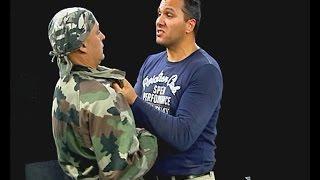 Защита от задържане и удар с глава! - майор Франц - урок 3 - Проект Самозащита