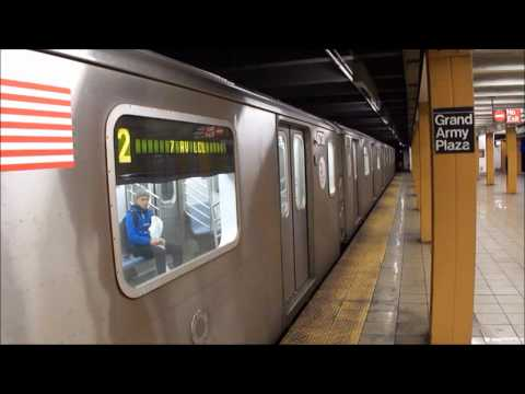 MTA Subway - Midnight Brooklyn Action on the (2) & (4)