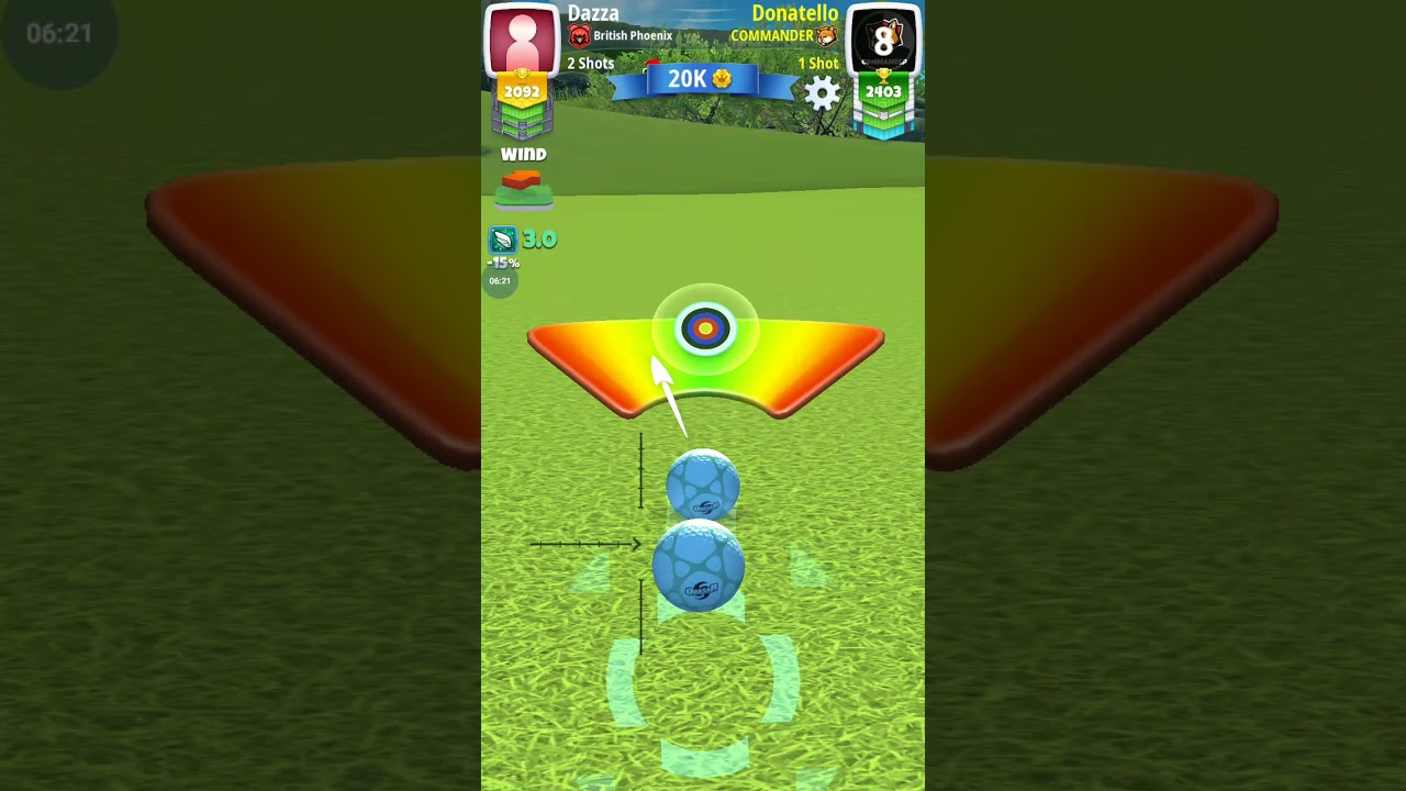 Golf Clash Learning the rings - Wind adjustments using the rings