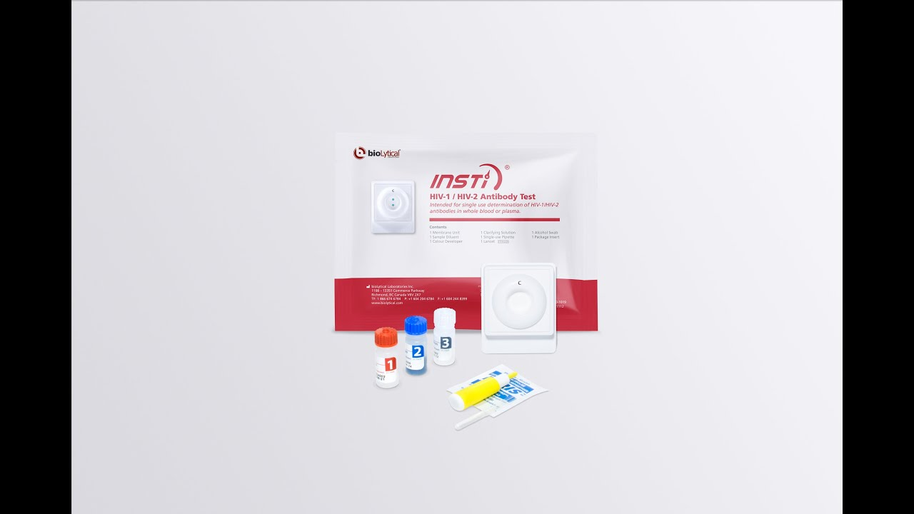 INSTI HIV Antibody Test - The World's Fastest HIV Test - YouTube