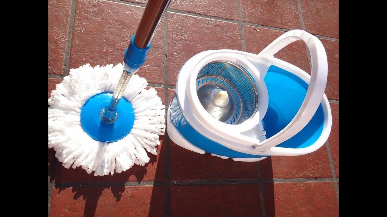 Como limpiar rapido los pisos con 2 mopas y balde centrifugo youtube - Como limpiar rapido ...