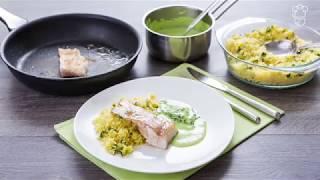 Филе трески в сливочном соусе с кускусом: доставка продуктов с рецептами Шефмаркет