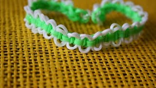 Плетение браслета из резинок «круговые узелки»