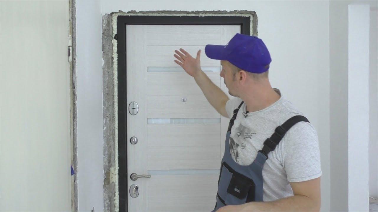 как установить входную металличскую дверь своими руками
