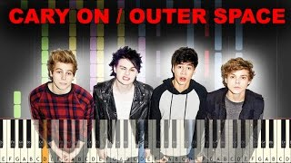 5SOS - CARRY ON / OUTER SPACE piano tutorial (FREE SHEET AND MIDI DOWNLOAD)