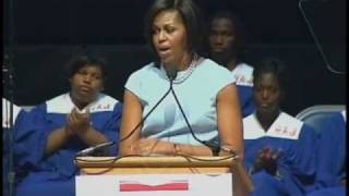 Michelle Obama Pays Tribute with Emotional Speech