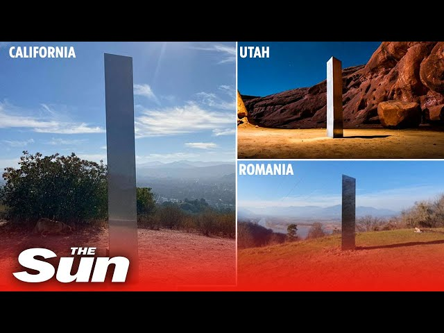 Another mystery monolith appears in California days after Utah and Romania