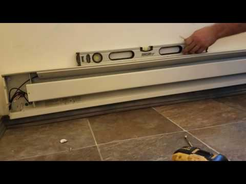 installing-electric-baseboard-heater.-diy