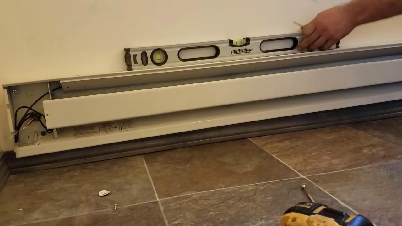 installing electric baseboard heater diy [ 1280 x 720 Pixel ]
