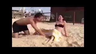 مفاجأة ؟؟؟ ولادة طبيعية على شاطئ«دهب» لسائحة أجنبية  normal delivery