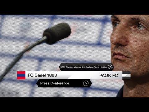 Η συνέντευξη Τύπου του FC Basel 1893-ΠΑΟΚ - PAOK TV