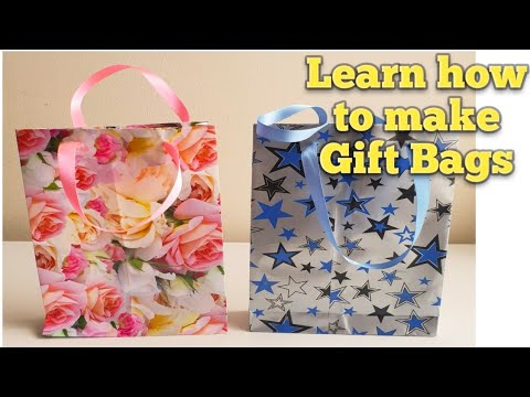EASY AND QUICK WAY TO MAKE PAPER BAGS /  DIY GIFT BAGS / HOMEMADE PARTY BAGS