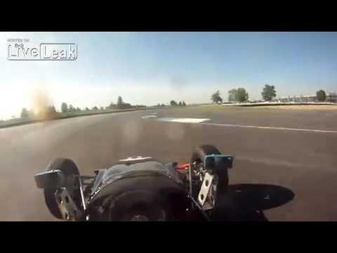 Vintage Formula Ford at Indianapolis Motor Speedway. Helmet Camera