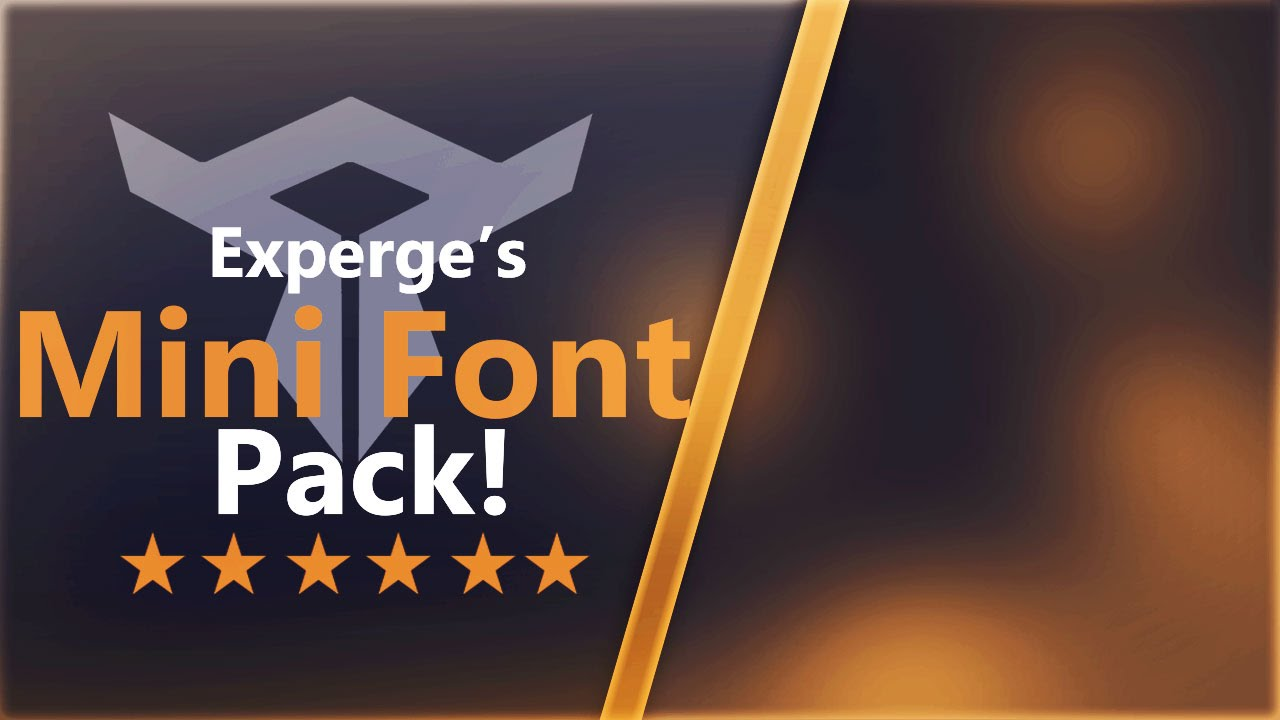 Download Free GFX: My Mini Font Pack! - YouTube