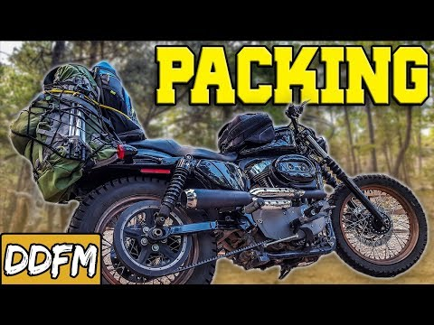 How To Pack Your Bags For Motorcycle Camping