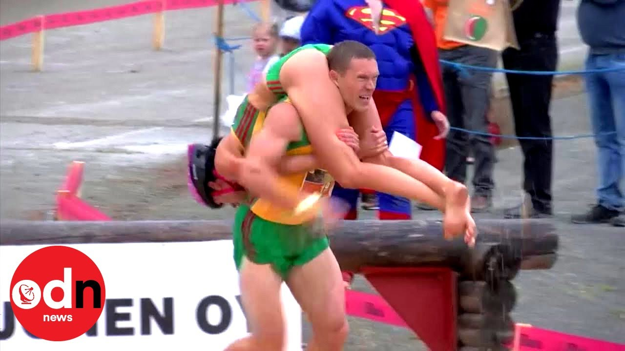 World Wife-Carrying Championships: Lithuanian Couple Wins Title For Second Year In A Row