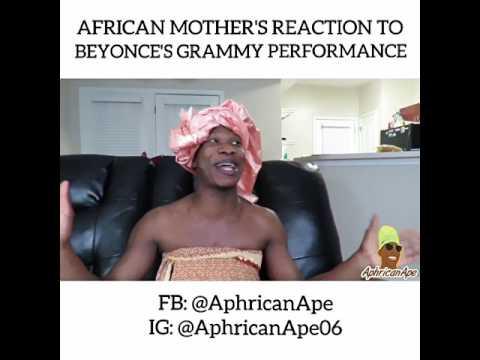Video (skit): AphricanApe - Beyonce's grammy performance