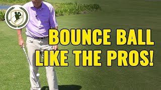 GOLF TRICK SHOT - HOW TO BOUNCE GOLF BALL LIKE THE PROS!