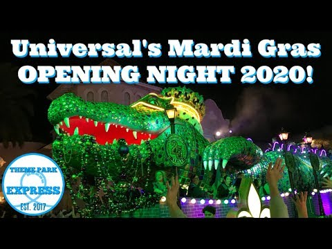 Mardi Gras 2020 Opening Night | Universal Studios Orlando | Food, Merchandise, Parade & The Roots!