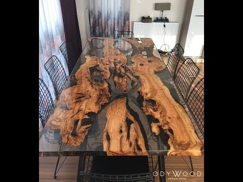 Epoxy Resin Dining Table Designs by Odywood