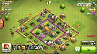 Attack using Max Level Balloons at Town Hall Level 5