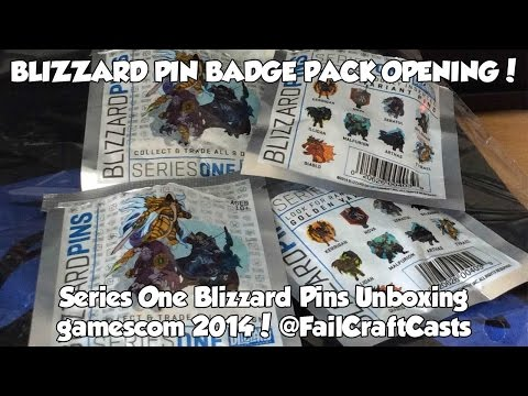 Blizzard Pin Badge Pack Opening! | FailCraft At Gamescom 2014!