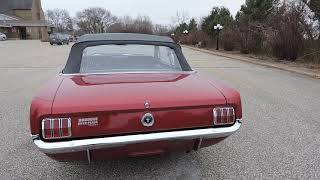 1965 ford mustang convertible dark red for sale at www coyoteclassics com