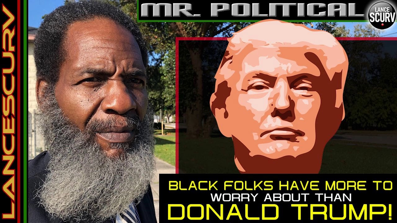 BLACK FOLKS HAVE MORE TO WORRY ABOUT THAN DONALD TRUMP! -(WTF is This Fag Magnet he is giving air ti